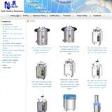 单英文版公司网站产品展示页