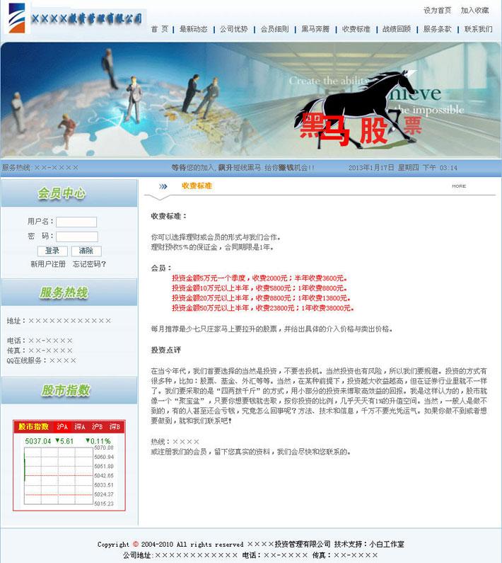 股票咨询公司网站页面大图