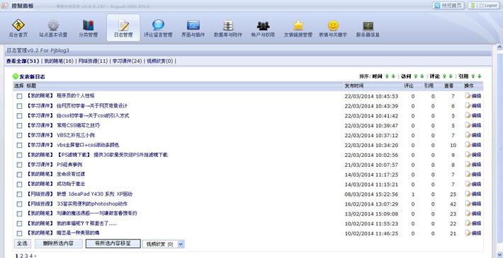 博客网站管理系统