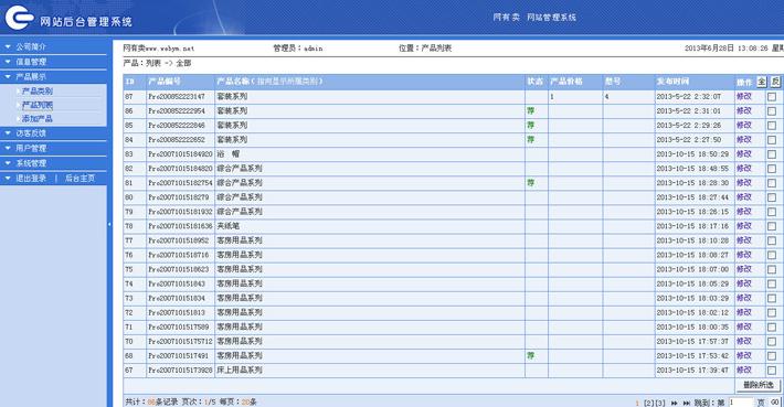 旅游用品厂网站后台管理系统