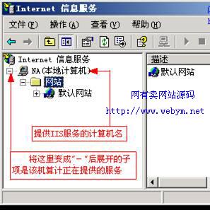 Internet信息服务窗口