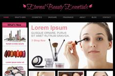 红色风格美容化妆网站模板