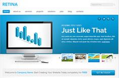 蓝色专业网络公司网站模板免费下载