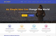 蓝色商务投资咨询公司网站模板