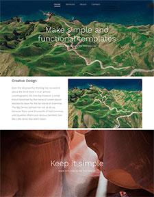 地理网站模板