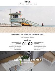 海滨浴场网页模板