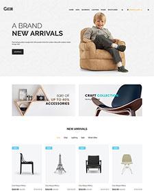 家具电子商务网站模板