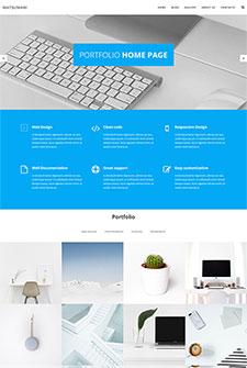 蓝色风格简约网站模板
