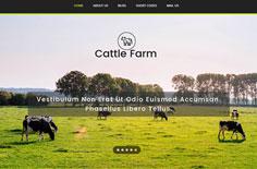 奶牛养殖基地公司html自适应网站模板下载