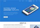 自适应蓝色风格手机app应用开发公司网站模板