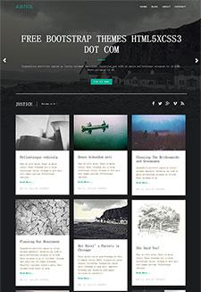 瀑布流图片网站模板