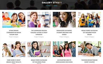 HTML5培训机构网站模板