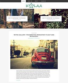 摄影作品展示网站模板