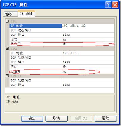 检查 TCP/IP已经启用