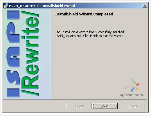 安装ISAPI Rewrite组件步骤三