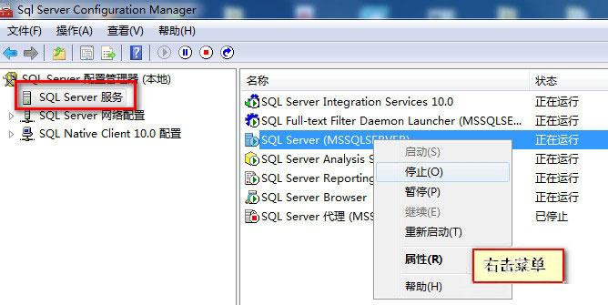 选择SQL Server服务